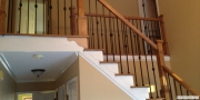 Hardwood stairs and iron spindles installation in Lawrenceville, GA