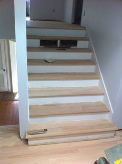 Stairs - Sanded